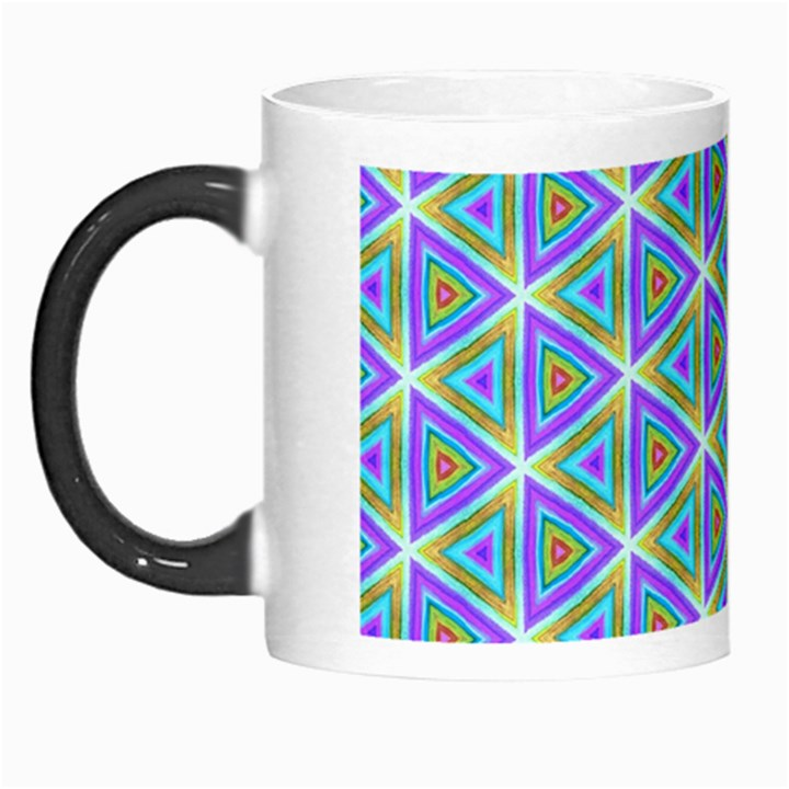 Colorful Retro Geometric Pattern Morph Mugs