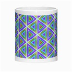 Colorful Retro Geometric Pattern Morph Mugs Center