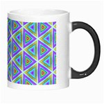 Colorful Retro Geometric Pattern Morph Mugs Right