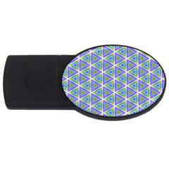Colorful Retro Geometric Pattern Usb Flash Drive Oval (4 Gb)