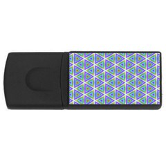 Colorful Retro Geometric Pattern USB Flash Drive Rectangular (4 GB)