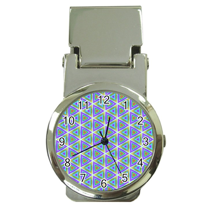 Colorful Retro Geometric Pattern Money Clip Watches