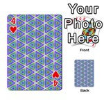 Colorful Retro Geometric Pattern Playing Cards 54 Designs  Front - Heart4