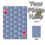 Colorful Retro Geometric Pattern Playing Cards 54 Designs  Front - Heart9