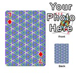 Colorful Retro Geometric Pattern Playing Cards 54 Designs  Front - Diamond7