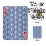 Colorful Retro Geometric Pattern Playing Cards 54 Designs  Front - Diamond10