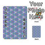 Colorful Retro Geometric Pattern Playing Cards 54 Designs  Front - Joker1