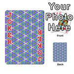 Colorful Retro Geometric Pattern Playing Cards 54 Designs  Front - Joker2