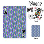 Colorful Retro Geometric Pattern Playing Cards 54 Designs  Front - Spade9