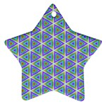 Colorful Retro Geometric Pattern Star Ornament (Two Sides)  Front