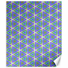 Colorful Retro Geometric Pattern Canvas 8  X 10