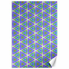 Colorful Retro Geometric Pattern Canvas 12  X 18