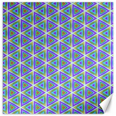 Colorful Retro Geometric Pattern Canvas 16  x 16