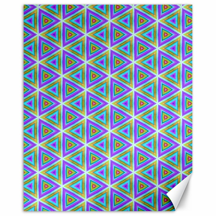 Colorful Retro Geometric Pattern Canvas 16  x 20
