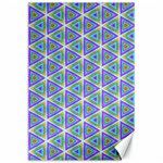 Colorful Retro Geometric Pattern Canvas 24  x 36  36 x24 Canvas - 1