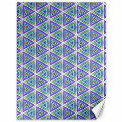 Colorful Retro Geometric Pattern Canvas 36  X 48