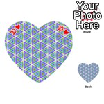 Colorful Retro Geometric Pattern Playing Cards 54 (Heart)  Front - Heart10