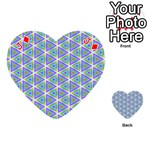 Colorful Retro Geometric Pattern Playing Cards 54 (Heart)  Front - DiamondJ