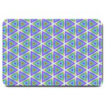 Colorful Retro Geometric Pattern Large Doormat  30 x20 Door Mat - 1