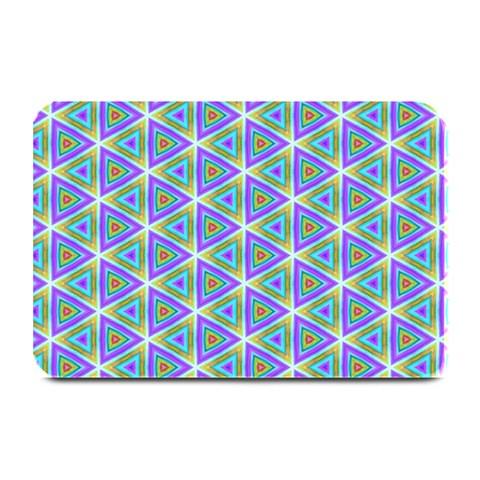Colorful Retro Geometric Pattern Plate Mats