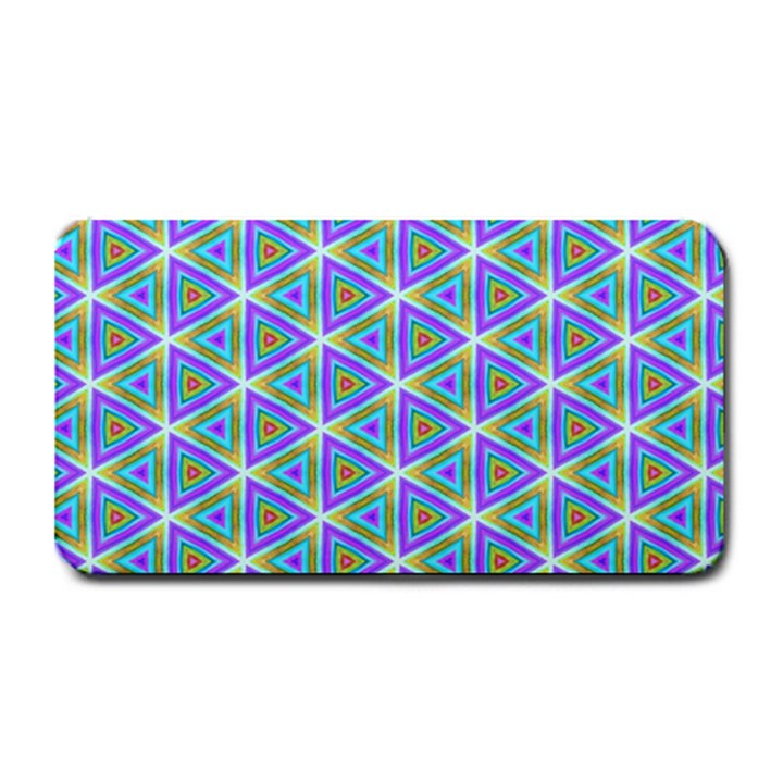 Colorful Retro Geometric Pattern Medium Bar Mats