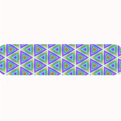 Colorful Retro Geometric Pattern Large Bar Mats
