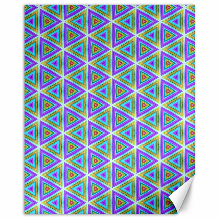 Colorful Retro Geometric Pattern Canvas 11  x 14
