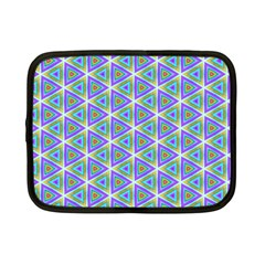 Colorful Retro Geometric Pattern Netbook Case (small)