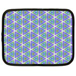 Colorful Retro Geometric Pattern Netbook Case (Large) Front