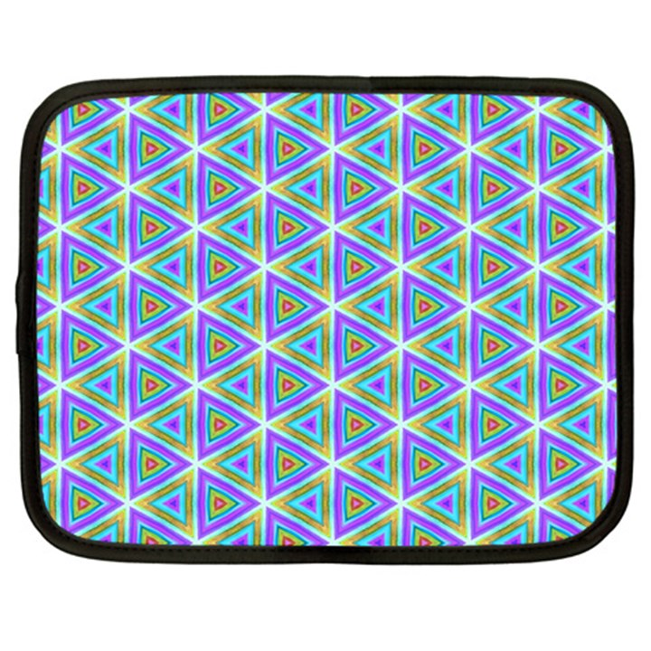 Colorful Retro Geometric Pattern Netbook Case (Large)