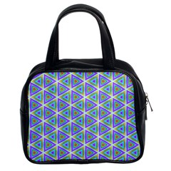 Colorful Retro Geometric Pattern Classic Handbags (2 Sides)