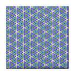 Colorful Retro Geometric Pattern Face Towel Front