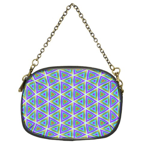 Colorful Retro Geometric Pattern Chain Purses (One Side)