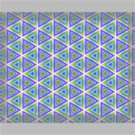 Colorful Retro Geometric Pattern Canvas 14  x 11  14  x 11  x 0.875  Stretched Canvas