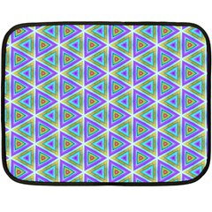 Colorful Retro Geometric Pattern Double Sided Fleece Blanket (mini)