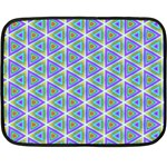 Colorful Retro Geometric Pattern Double Sided Fleece Blanket (Mini)  35 x27 Blanket Front
