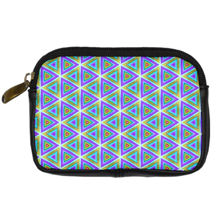 Colorful Retro Geometric Pattern Digital Camera Cases