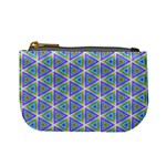 Colorful Retro Geometric Pattern Mini Coin Purses Front
