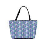 Colorful Retro Geometric Pattern Shoulder Handbags Back