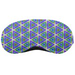 Colorful Retro Geometric Pattern Sleeping Masks Front