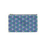 Colorful Retro Geometric Pattern Cosmetic Bag (Small)  Front