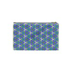 Colorful Retro Geometric Pattern Cosmetic Bag (Small)  Back
