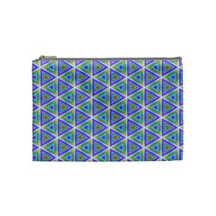 Colorful Retro Geometric Pattern Cosmetic Bag (medium)