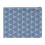 Colorful Retro Geometric Pattern Cosmetic Bag (XL) Back
