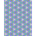 Colorful Retro Geometric Pattern Large Memo Pads 4.125 x5.5  Memopad