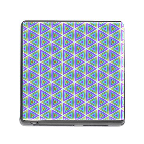Colorful Retro Geometric Pattern Memory Card Reader (Square)