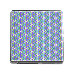 Colorful Retro Geometric Pattern Memory Card Reader (Square)