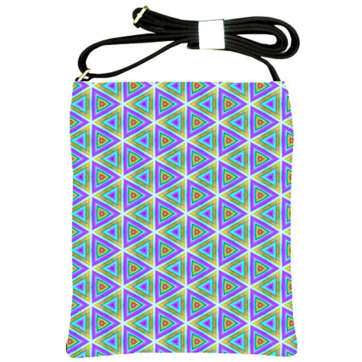 Colorful Retro Geometric Pattern Shoulder Sling Bags