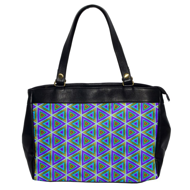 Colorful Retro Geometric Pattern Office Handbags