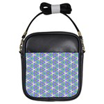 Colorful Retro Geometric Pattern Girls Sling Bags Front